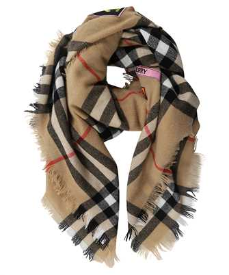 Burberry LOGO GRAPHIC CHECK CASHMERE LARGE SQUARE Scarf