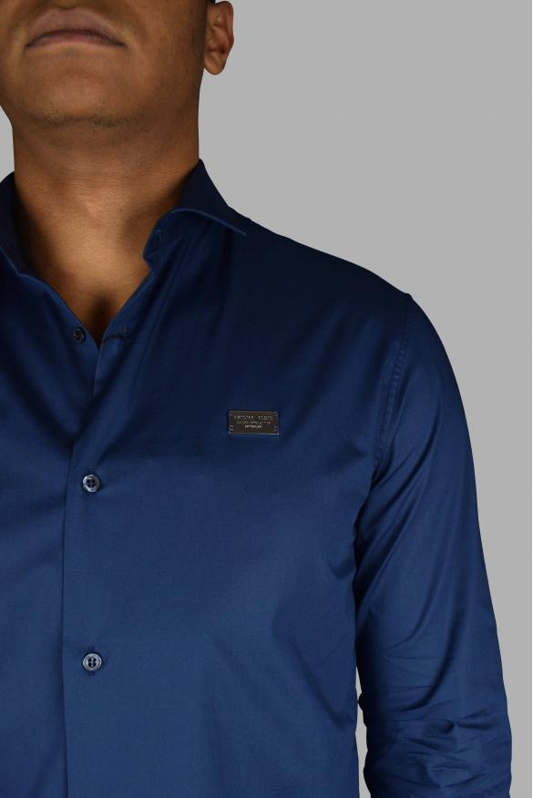 Luxury shirt for men - Philipp Plein Iconic blue shirt