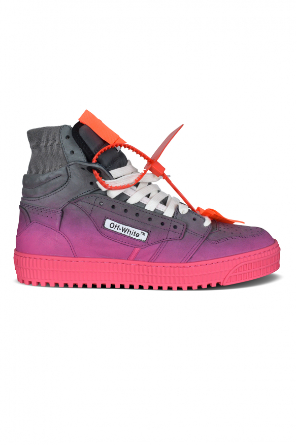 Luxury sneakers for men - Off Court 3.0 sneakers in gray, purple and pink gradient suede