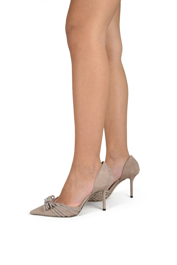 Luxury shoes for women - Jimmy Choo Kaitence 85 in pink suede