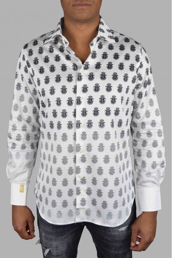 Luxury shirt for men - Billionaire white shirt with insignia pattern