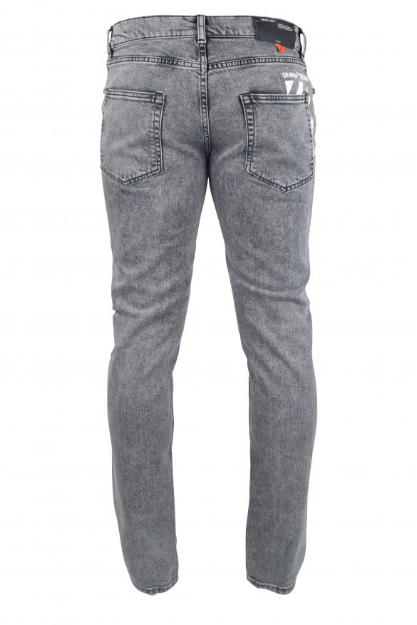 Men's luxury jean - Grey Off -White jean
