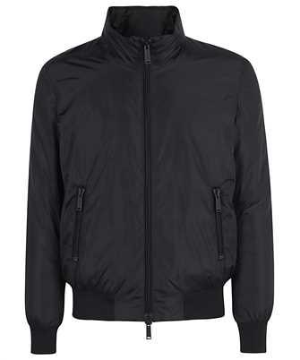 zipped padded bomber jacket