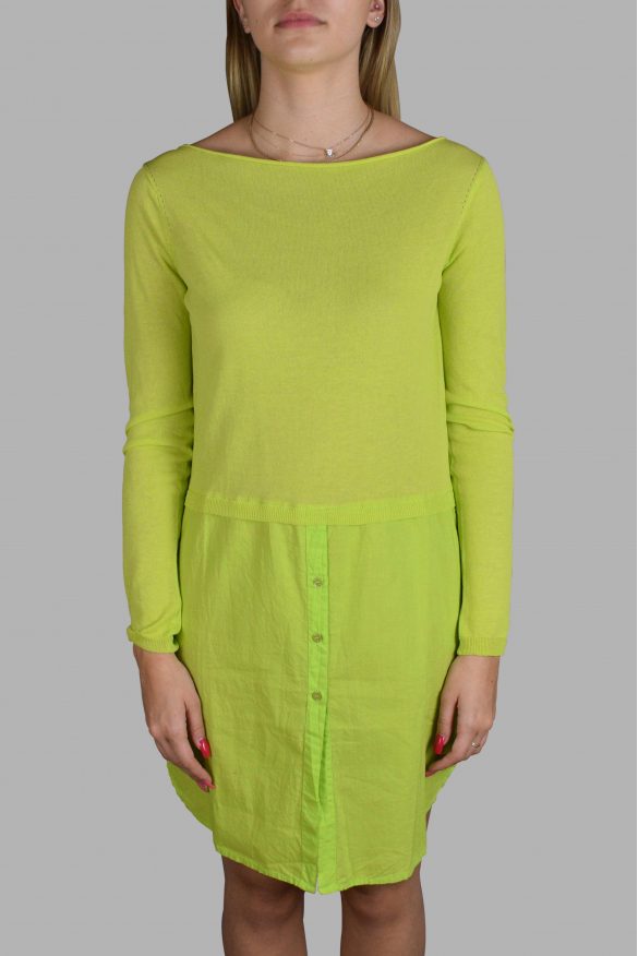 Luxury dress for women - Antonio Marras green shirt dress