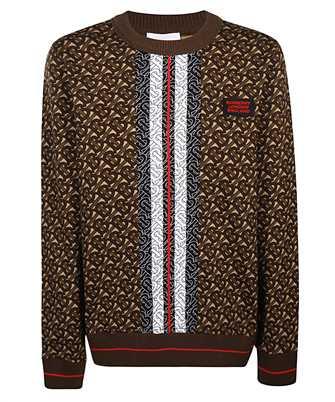 Burberry MONOGRAM STRIPE PRINT COTTON OVERSIZED Sweatshirt