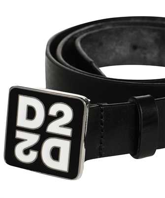 dsquared2 mirrored d2 plaque belt