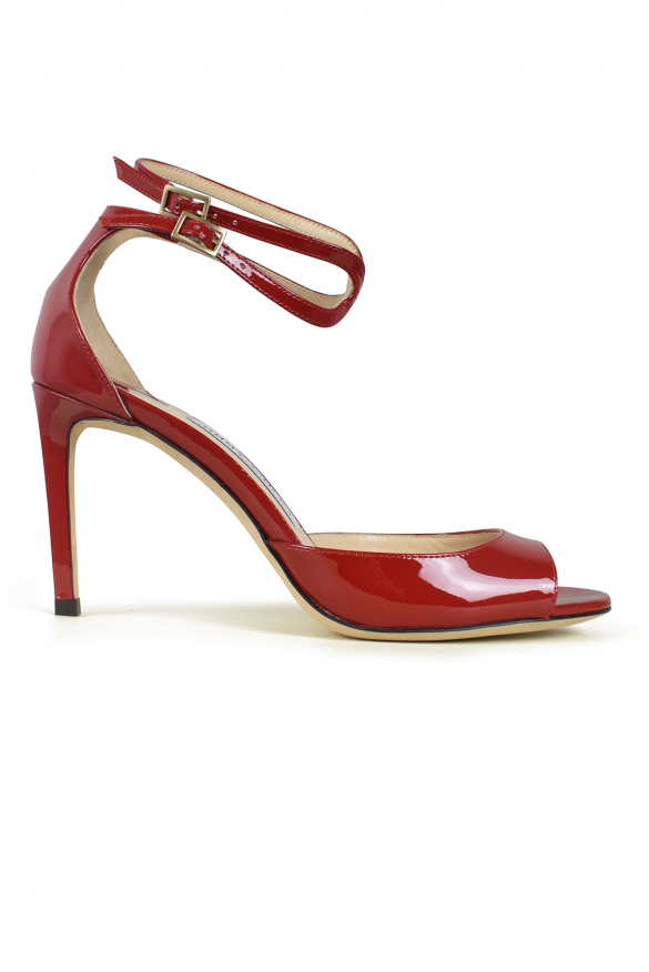 Women luxury shoes - Jimmy Choo Lane 85 red patent leather sandals