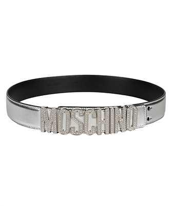 metallic logo-plaque belt