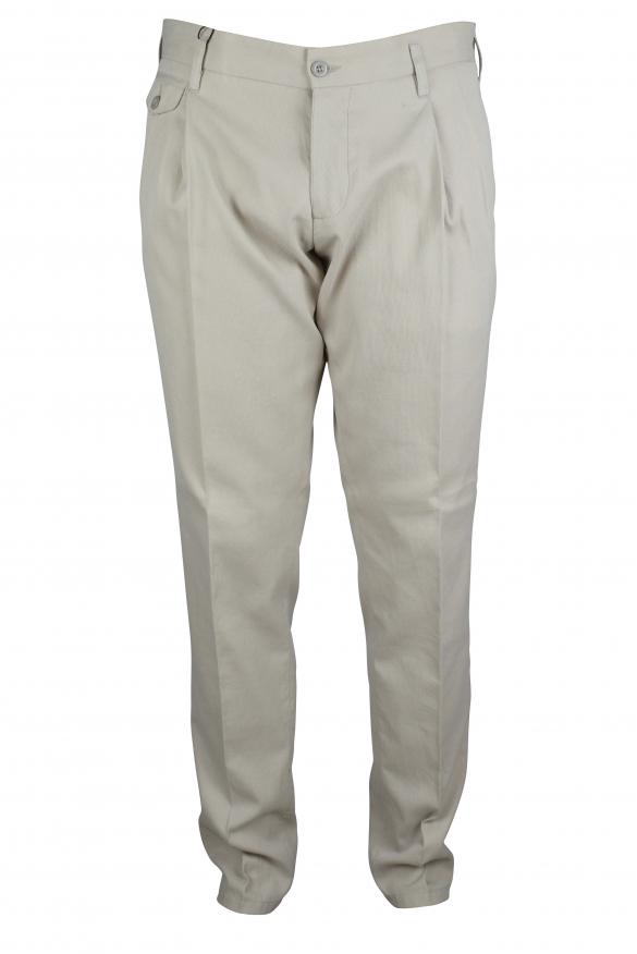 Luxury trousers for men - Dolce & Gabbana beige trousers
