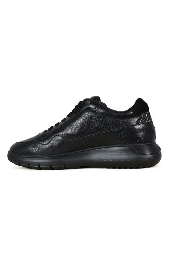 Luxury shoes for women - Hogan Interactive3 sneakers in black leather