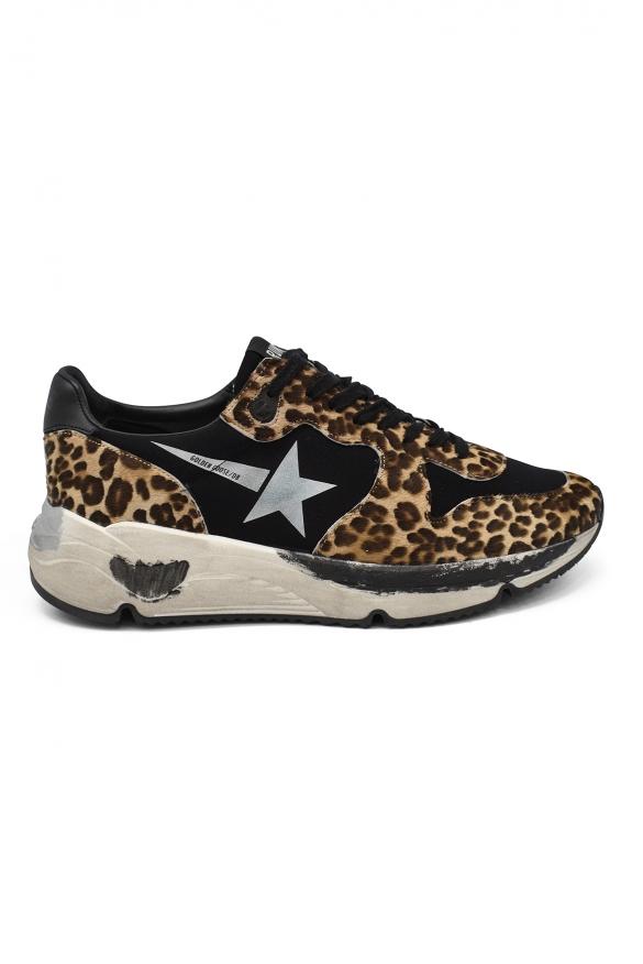 Luxury shoes for women - Golden Goose Running sneakers in leopard foal