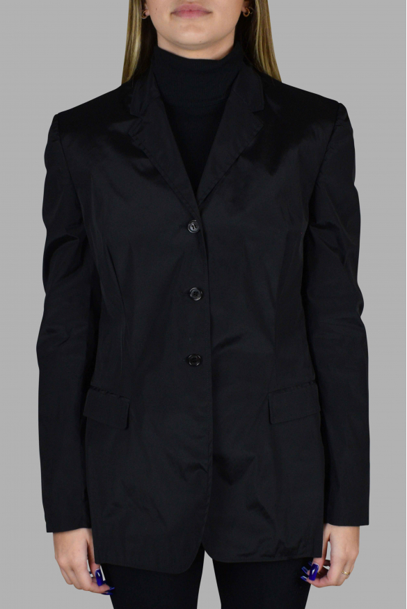 Women's luxury jacket - Prada light jacket black with two pockets