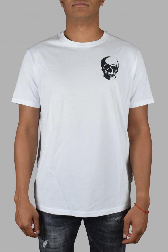 Men designer t-shirt - Philipp Plein Round Neck  Skull  white t-shirt