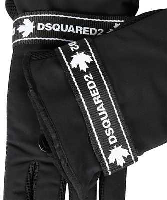 dsquared2 black tape gloves