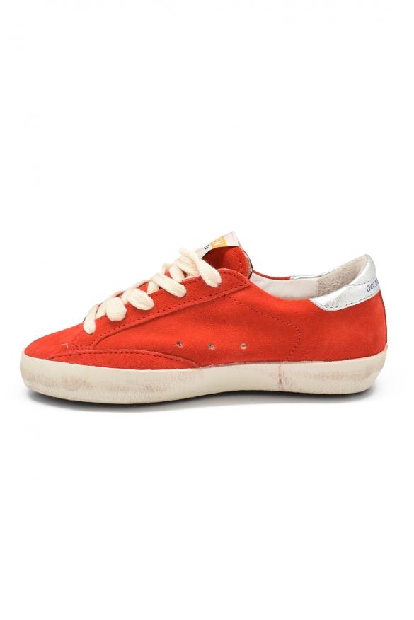 Golden Goose kids - Golden Goose Superstar red suede sneakers