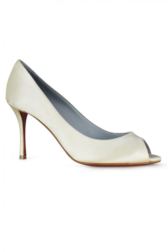 Women's luxury pumps - Yootish Louboutin pumps 85 in white satin