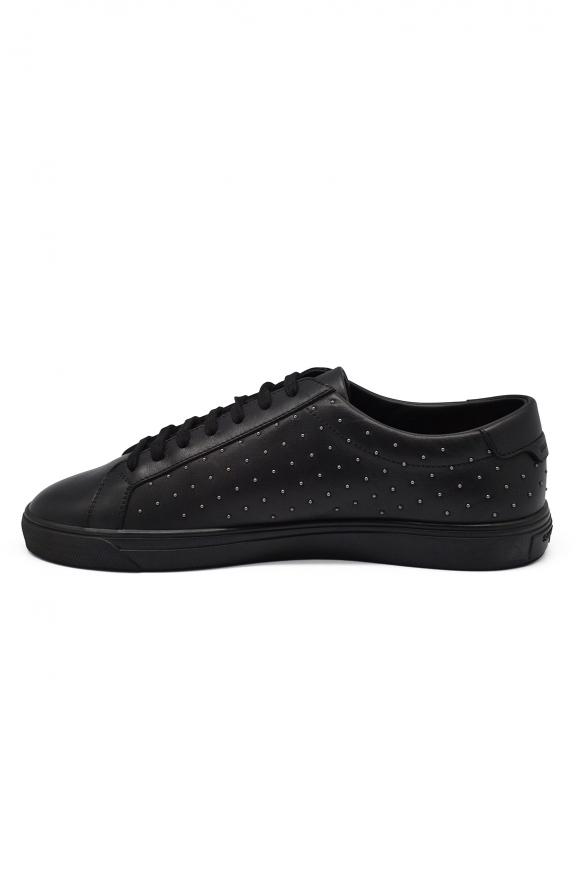 Luxury sneakers for men - Saint Laurent Brooklyn Moon black sneakers