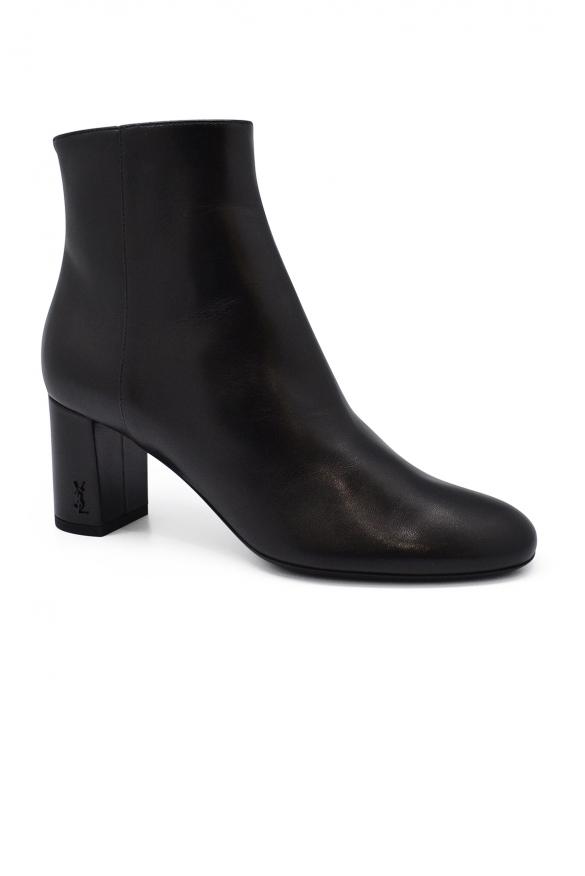 Women shoes - Saint Laurent Loulou black leather low ankle boots