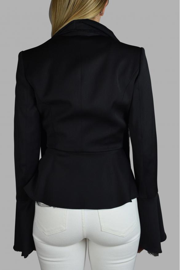 Women's luxury jacket - Black Marly's jacket with lace