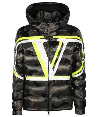 Valentino VLOGO CAMOUFLAGE QUILTED PUFFER Jacket