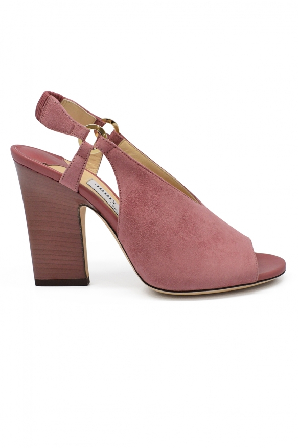 Luxury shoes for women - Jimmy Choo sandals in pink suede