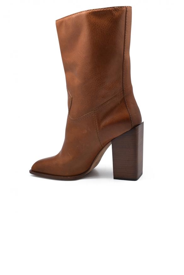 Women shoes - Saint Laurent boots in camel leather