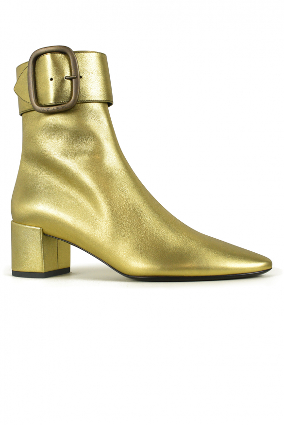 Women luxury shoes - Saint Laurent Joplin ankle boots in golden leather