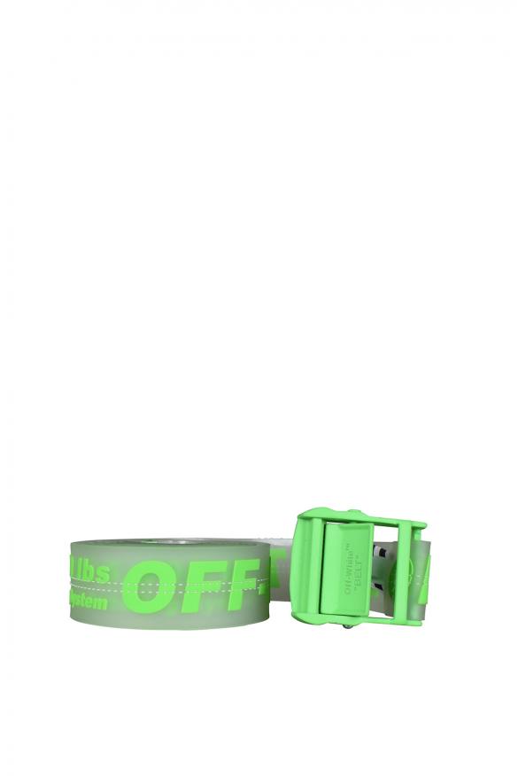 Luxury belt - Transparent and neon green Off-White belt