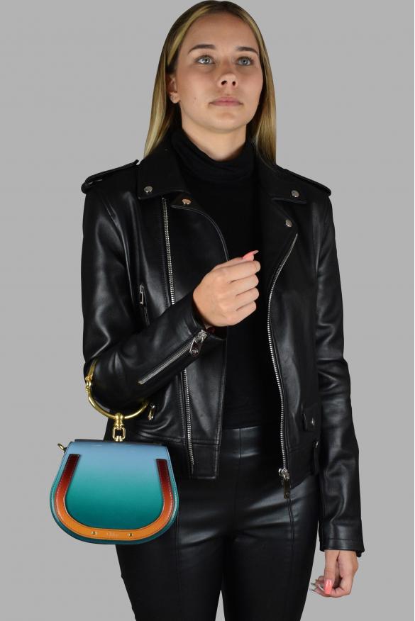 Luxury handbag - Nile Chloé bracelet bag in blue gradient leather.