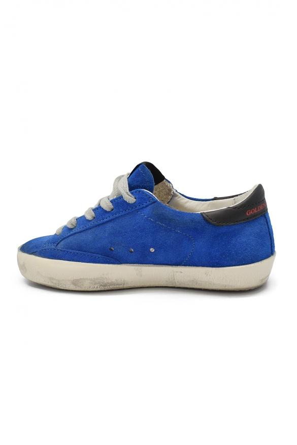 Golden Goose kids - Golden Goose Superstar blue suede sneakers
