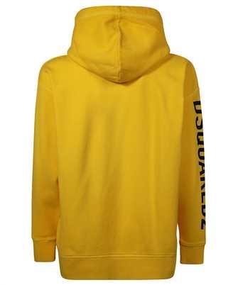 multi-logo print hoodie