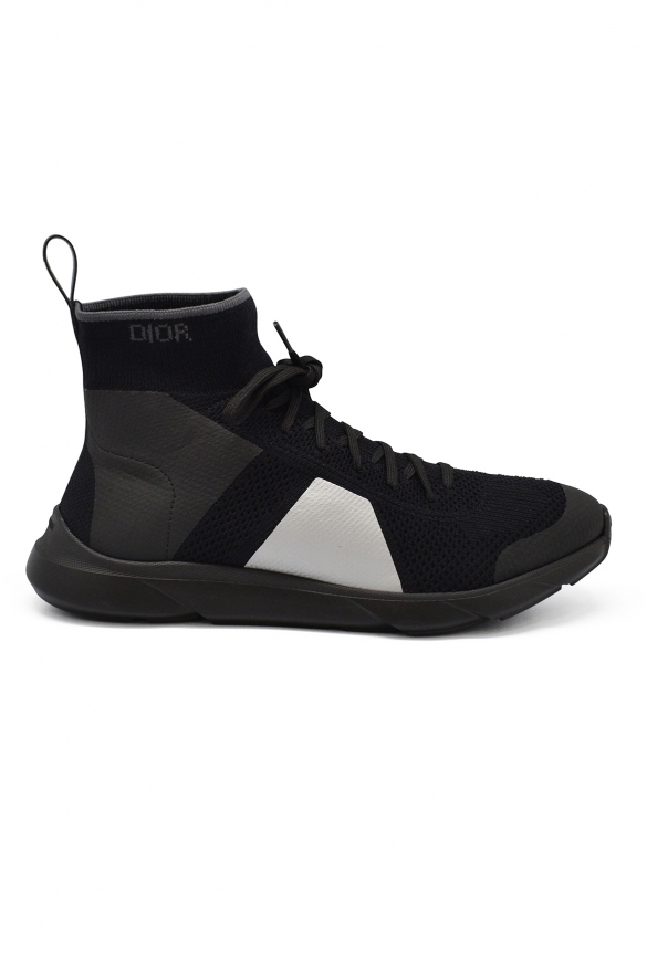 Luxury sneakers for men -  B21 Socks Dior sneakers in black, grey and white technical knit