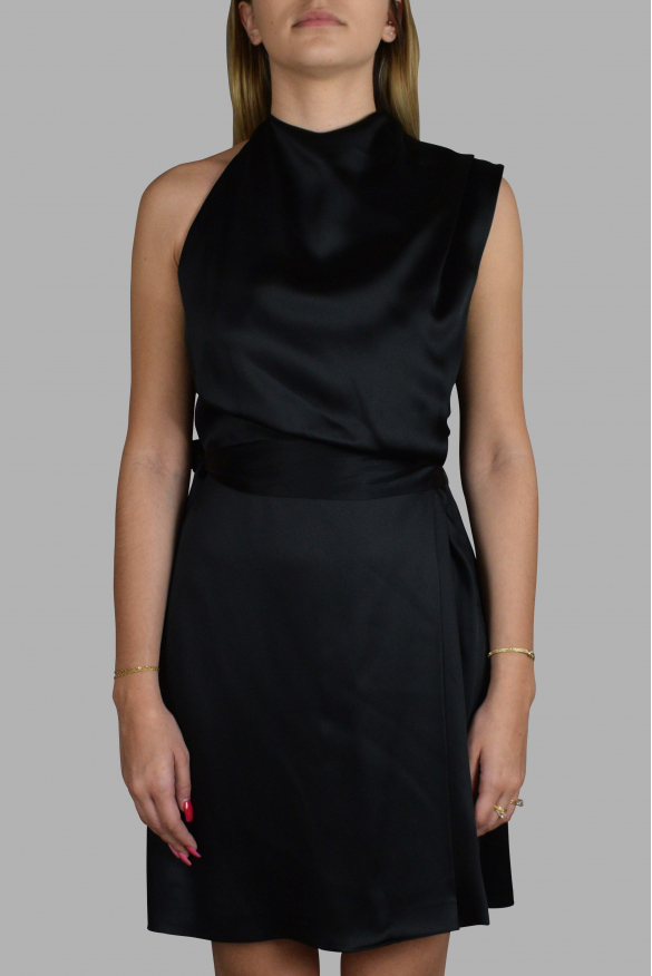 Luxury dress for women - Gucci black dress with lace up at the back of the neck.