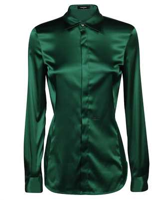 stretch-fit long-sleeve shirt