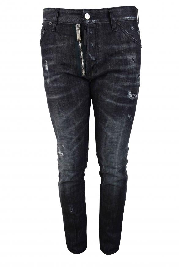 Men's designer jeans - Dsquared2 grey Cool Guy Jean destroyed effect