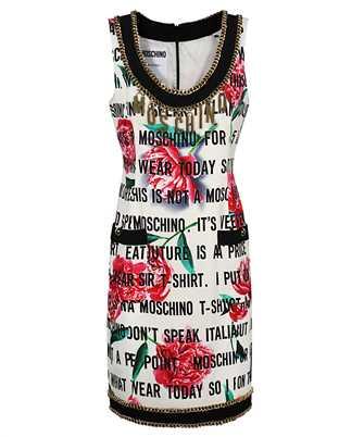 white cady flowers slogan dress