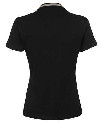 metallic-trim polo shirt