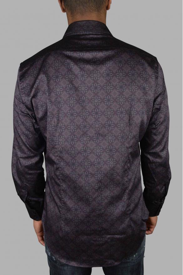 Luxury shirt for men - Milano Floral Billionaire burgundy shirt