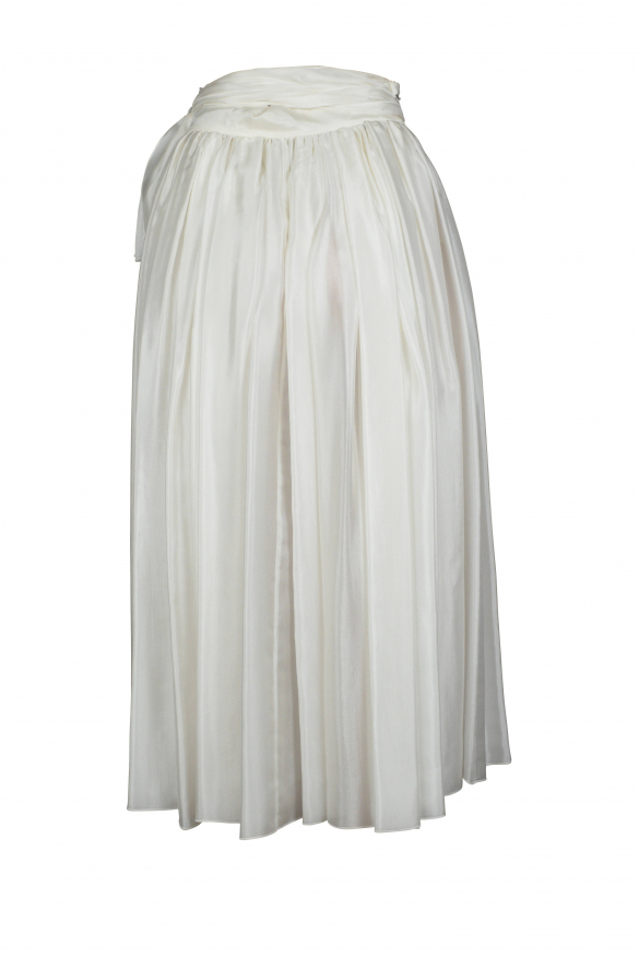 Luxury skirt for women - Dolce & Gabbana white silk skirt