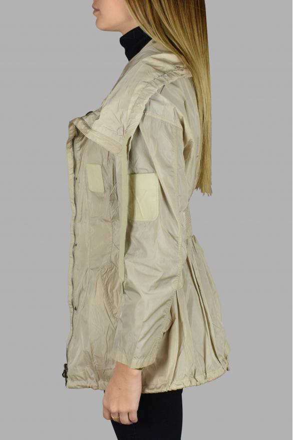 Women's luxury coat - Prada beige nylon coat