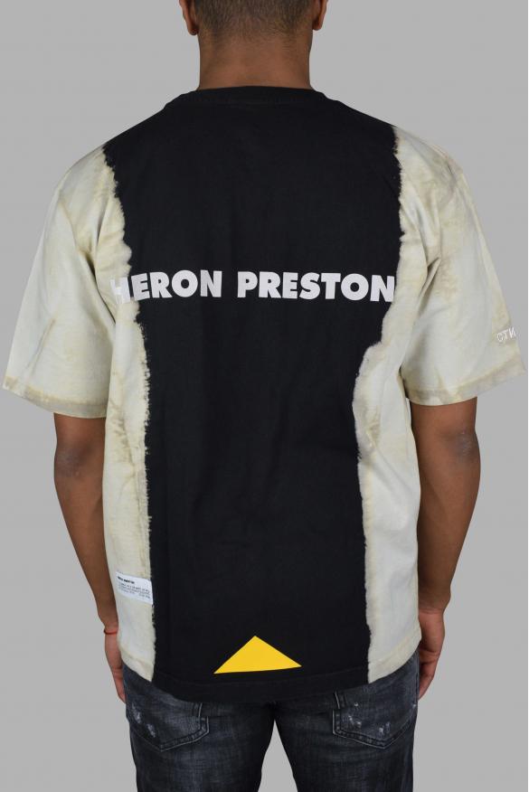 Men's Luxury T-Shirt - Heron Preston x CAT gradient black & white t-shirt