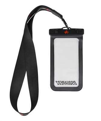 logo-print lanyard phone case