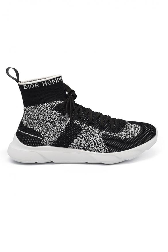 Luxury sneakers for men -  B21 Socks Dior sneakers in black technical knit