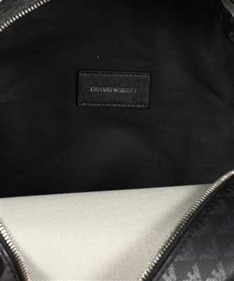 monogram print backpack