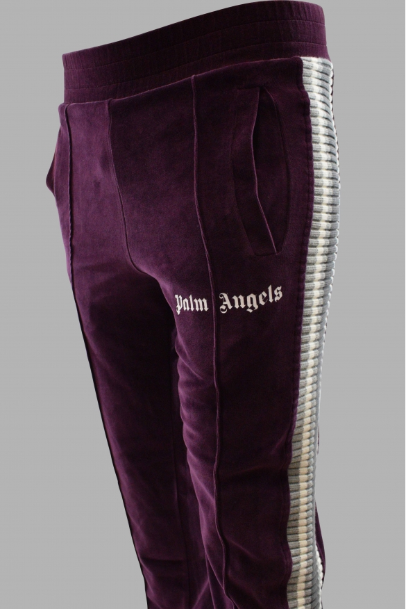 Men's designer jogging - Palm Angels velvet track trousers