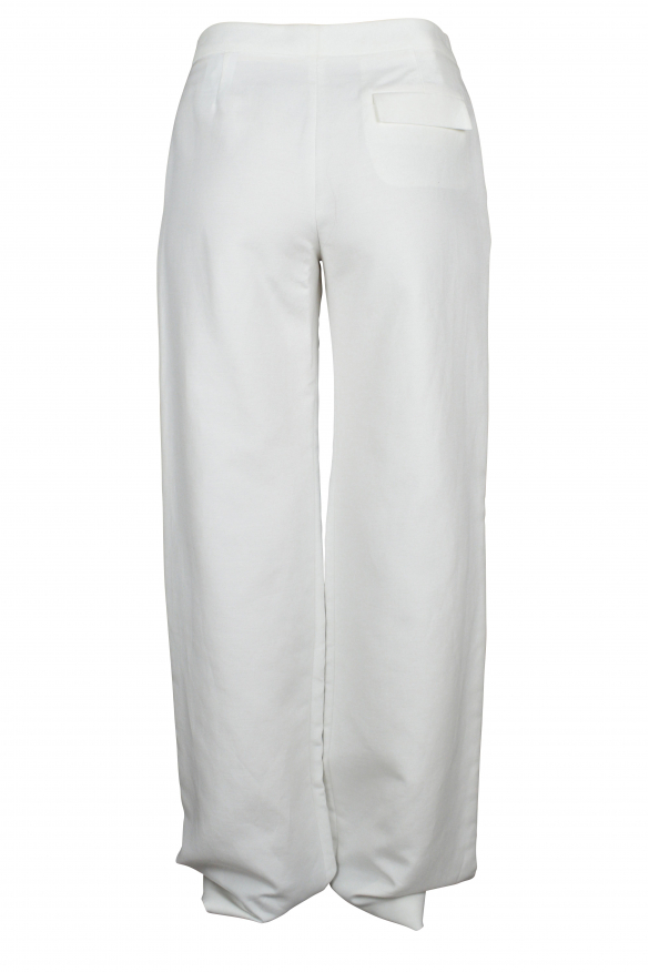 Luxury trousers for women - Balenciaga white pleated trousers