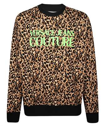 versace jeans couture leopard all over print sweatshirt