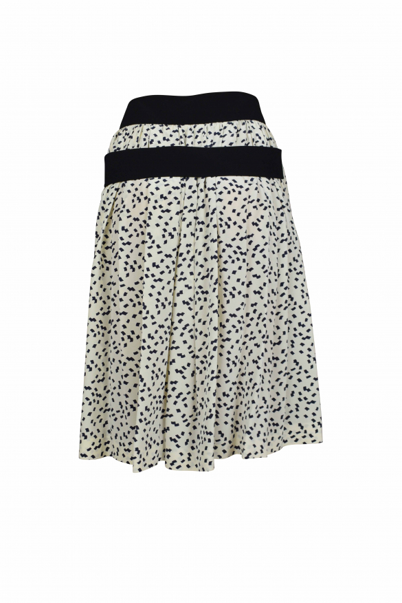 Luxury skirt for women - Balenciaga white skirt with black patterns