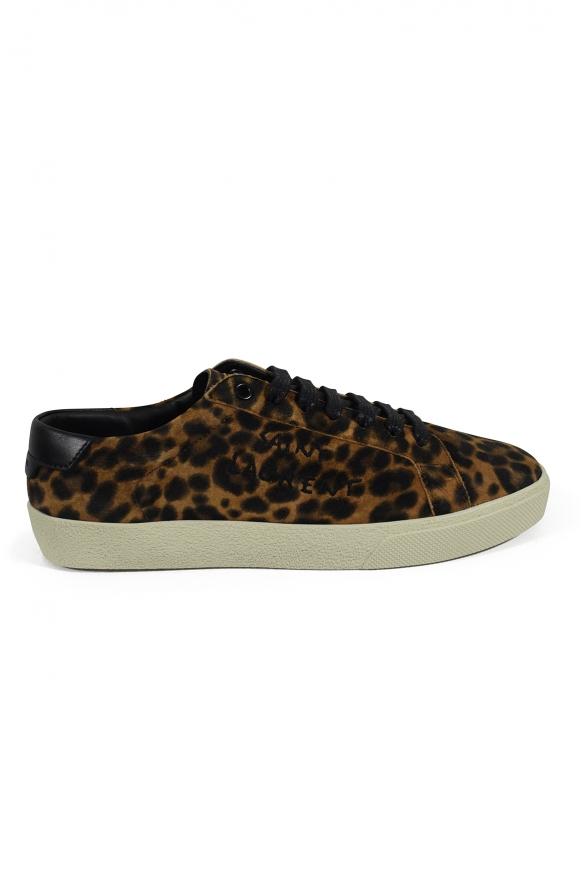 Women luxury sneakers - Saint Laurent venice leopard sneakers