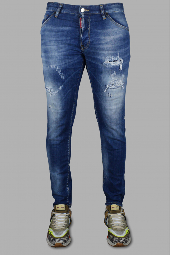 Men's luxury jeans - Cool Guy Jean Dsquared2 washed blue